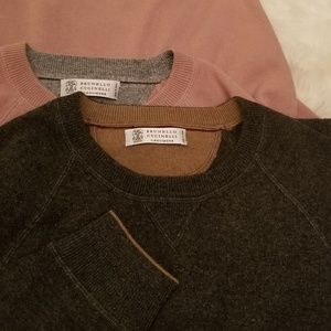 TWO *Like New* Crew-Neck Cashmere Sweaters
